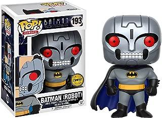 Batman [Robot] (Chase Edition): Batman The Animated Series x Funko POP! Heroes Vinyl Figure & 1 PET Plastic Graphical Protector Bundle [#193 / 13645 - B]