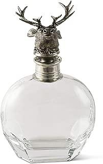 Vagabond House Pewter Elk Head Liquor Decanter Whiskey Decanter for Wine, Bourbon, Brandy, Liquor, Juice, Water, Mouthwash 10