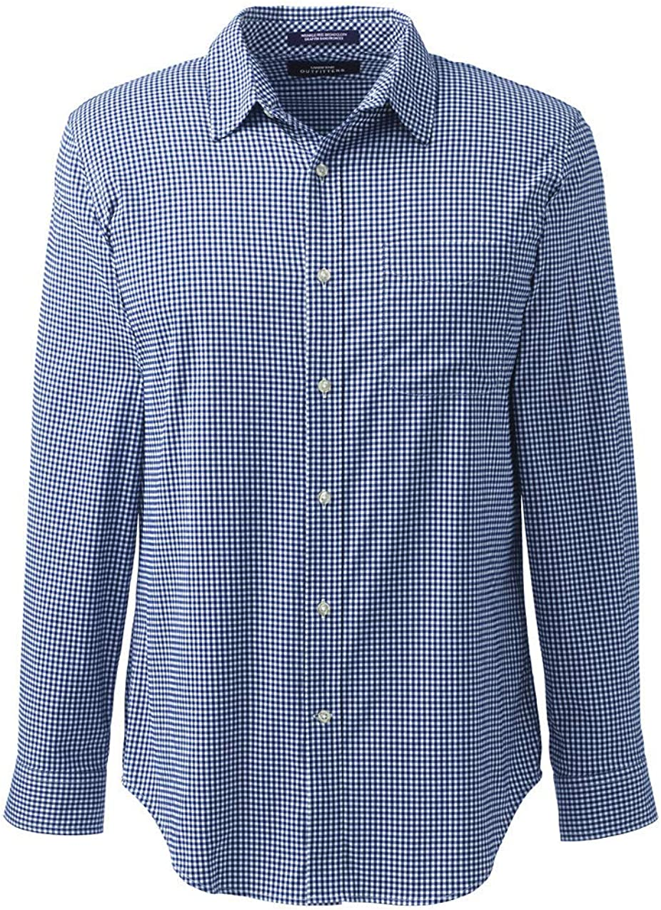 Lands' End Men's Straight Collar Traditional Stretch Shirt