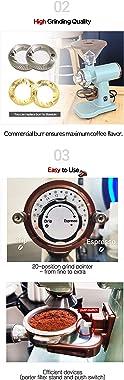 Urbanic 070s Electric Coffee Grinder (110~220v) / flat Titanium burr 60mm / 20 steps can be set (Black) / (Made in Korea)