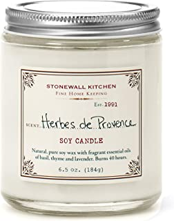 Stonewall Kitchen Herbes de Provence Soy Candle, 6.5 oz
