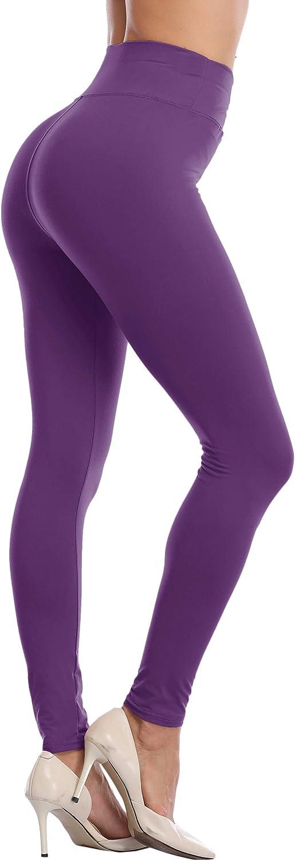 LIGHTBACK Womens High Waisted Leggings Ultra Soft Yoga Pants Seamles Workout Gym Tights Full Length