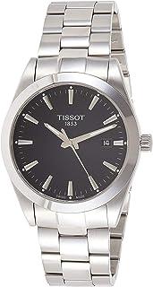 Tissot Mens Gentleman Swiss Quartz Stainless Steel Dress Watch (Model: T1274101105100), Black