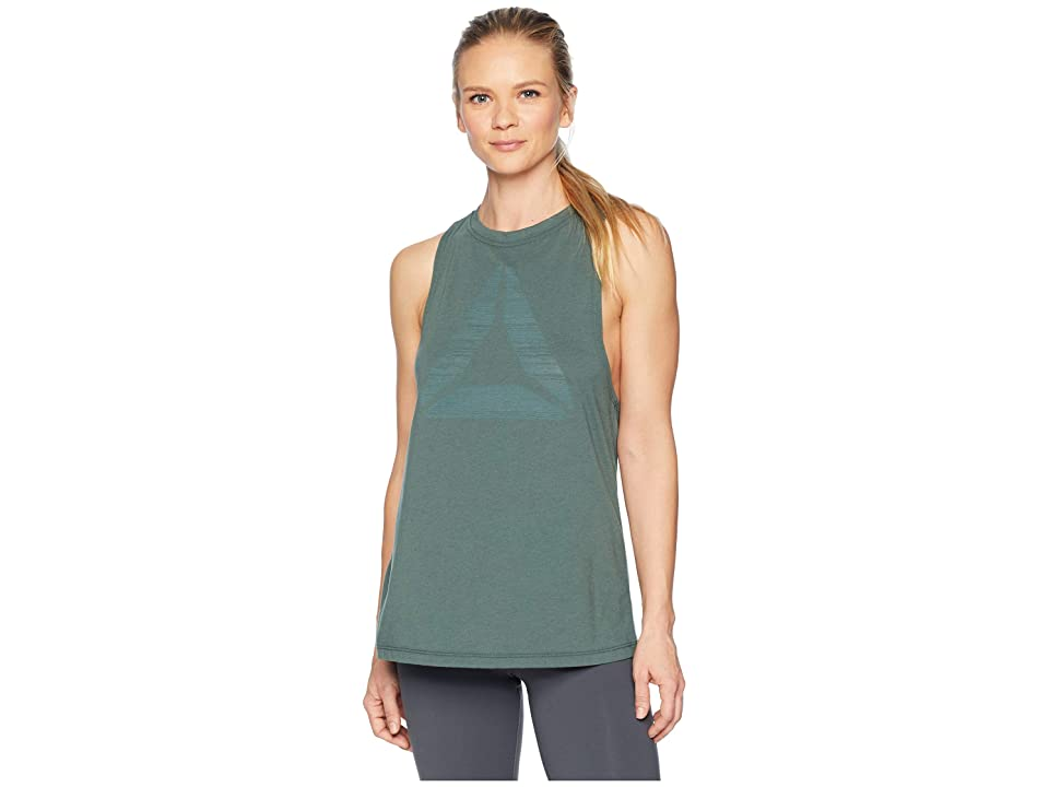 Reebok Burnout Tank Top (Chalk Green) Women