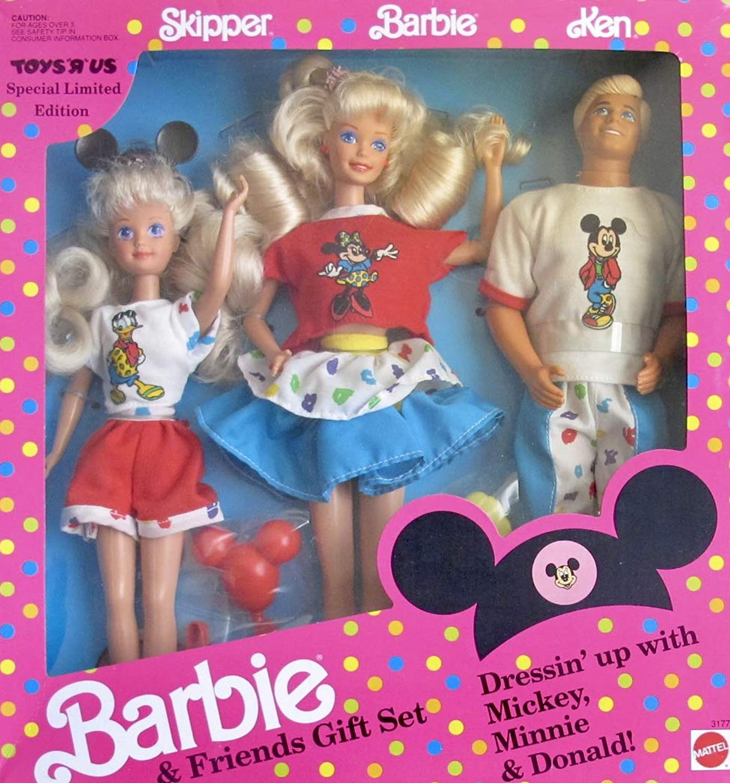 en promociones de estadios Barbie & Friends Gift Set Dressin' Up with Mickey, Minnie Minnie Minnie & Donald  - Juguetes  R  Us Special Limited Edition w Skipper, Barbie & Ken Dolls (1991)  alto descuento