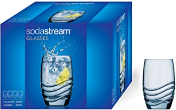 Sodastream Verres à eau et soda – 4 unités – 4 x 330 ml – Transparent – Compatibles Lave-vaisselle – Assortis aux Bouteill...