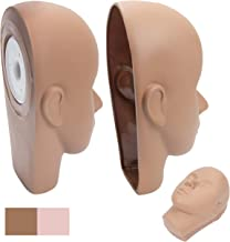 BHD BEAUTY Eyelash Practice Head with Replacement Mask Brown Color PVC Makeup Training Mannequin for Cosmetology