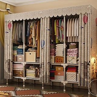 LyMei Armoire de Rangement, Portable Garde-Robe Pliage Tissu Armoire Grande Maison Placard Tissu Armoire De Rangement Orga...