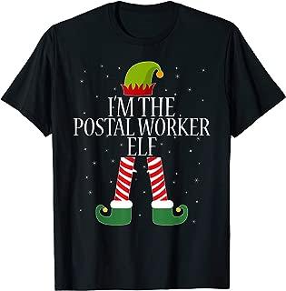 Postal Worker Elf Tshirt Christmas Elves Tee Gift