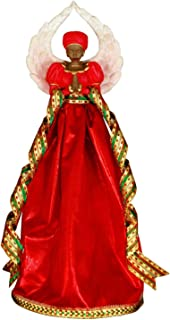 Serenity (Red): African American Christmas Tree Topper