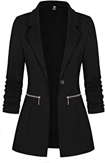Women's Long Sleeve Blazer Open Front Cardigan Jacket...