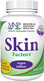 Michael's Naturopathic Programs Skin Factors - 180 Vegan Tablets - Daily Formula for Youthful Looking Skin, Ideal for Non ...