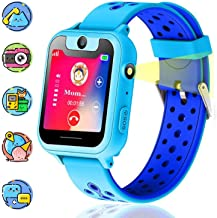 Themoemoe Kids Smartwatch, Kids GPS Tracker Watch Smart Watch Phone for Kids SOS Camera Game Compatible with 2G T-Mobile (Blue)