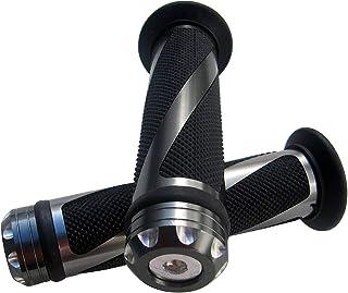 "MotorToGo Gray CNC Aluminum Motorcycle 7/8"" 22mm Handlebar Gel Grips for 2010 Triumph Tiger 1050"