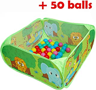PLAY 10 Ball Pit Comes Together with 50 Balls Baby Pop up Ball Pool with Balls