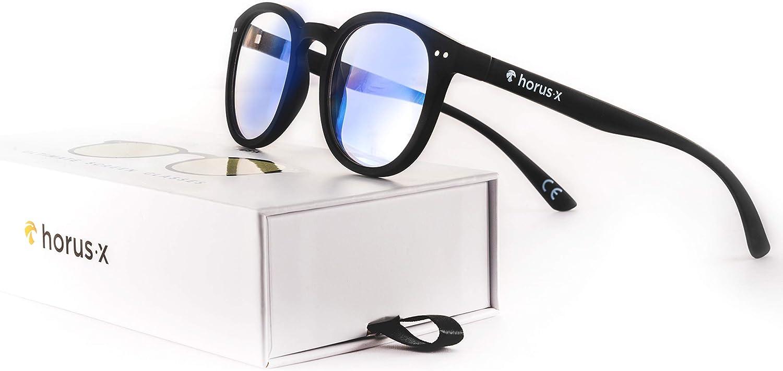 HORUS X - Blue Light Blocking Glasses for Screens - Computer Tablet Smartphone TV Glasses   UV Protection Anti-Fatigue and Eyestrain - Improved Sleep - Men and Women - Blue blocker glasses
