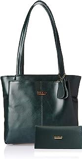 Fostelo Women's Combo Handbag & Clutch (Green & Green) (FSB-1482-FC-37)