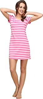 pink striped nightshirt