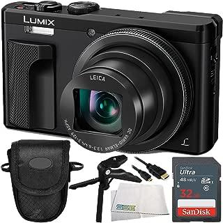 Panasonic Lumix DMC-ZS60 Digital Camera (Black) 16GB Bundle 5PC Accessory Kit Includes SanDisk 16GB SDHC Memory Card (SDSDXN2-016G-G46) + More - International Version (No Warranty)