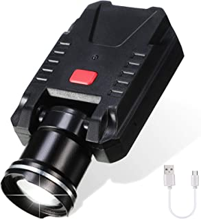 Mudder LED Cap Hat Light 500 Lumen Clip Headlamps LED Ultra Bright USB Rechargeable Pocket Lights Waterproof Cap Visor Lig...