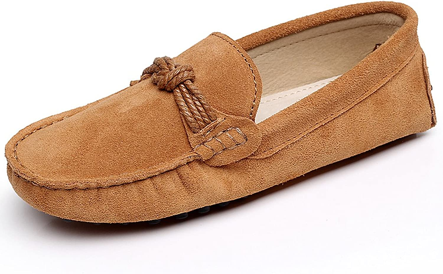 Shenn Women's Office & Career Stylish Suede Loafers shoes