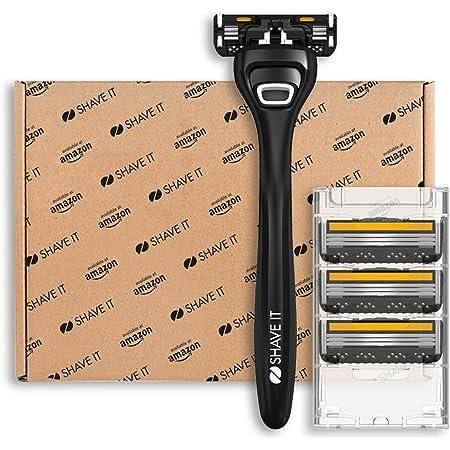 Shave It Value, rasoio a 3 lame, con manico e 4 lame