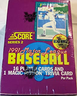 1991 SCORE BASEBALL SERIES 2 36 CT WAX BOX LOOK FOR MANTLE AUTO