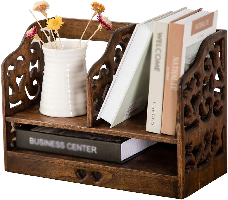 dhcsf Small Bookshelf Long Beach Mall for Desk shop Retro Rack Booksh Storage Desktop