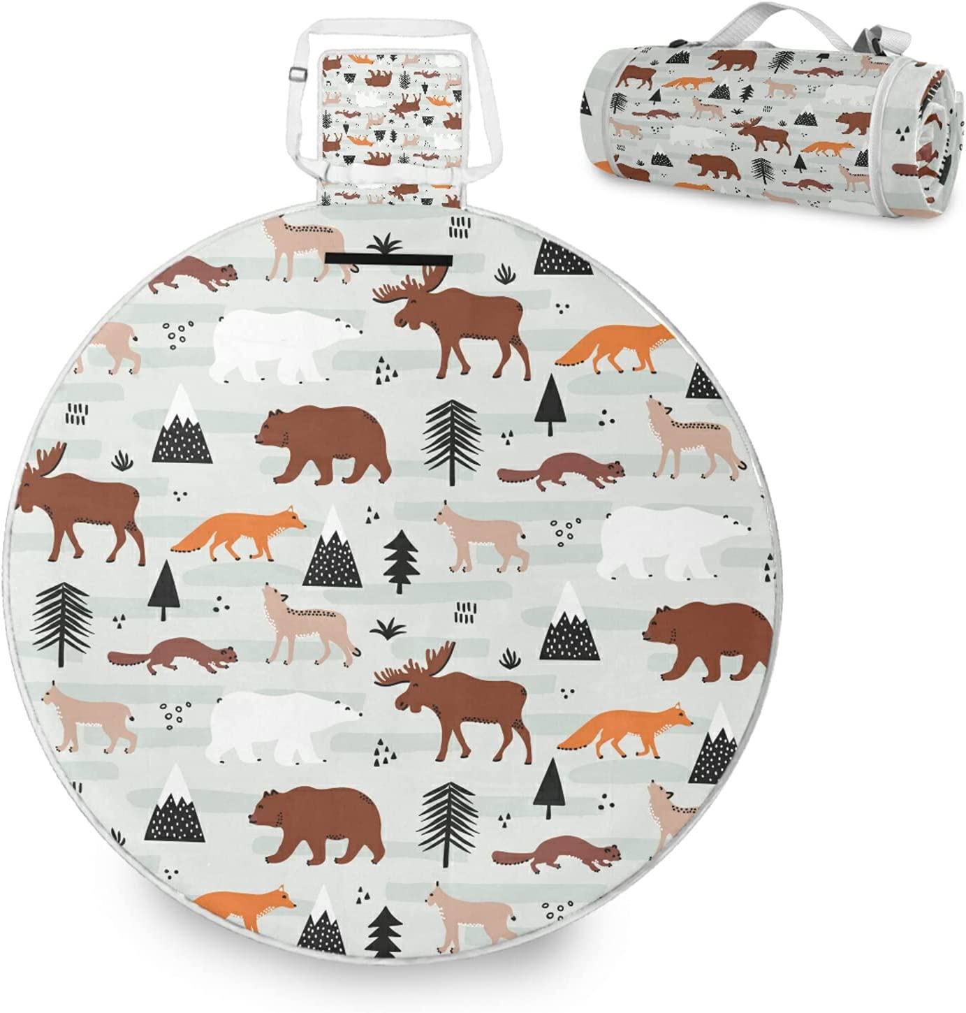 Moose Bear Foxes Trees Wolf Anima San Diego Mall Squirrel Max 66% OFF Seamless Fauna Forest
