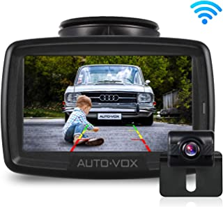 W2 NO Interference Digital Wireless Backup Camera System Kit with Built-in Transmitter, IP68 Waterproof Wireless Rear View Camera and 4.3'LCD Wireless Reversing Monitor for Trailer,Minibus, Trucks
