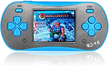 FAMILY POCKET Handheld Game Player for Kids Adults, RS16 Portable Classic Game Controller Built-in 260 Game 2.5 inch LCD R...