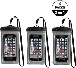 a98496e37fd 3 Unidad Funda Impermeable para Celular, 3 Pack Funda Flotante Bolsa  Impermeable Sumergible para Movil