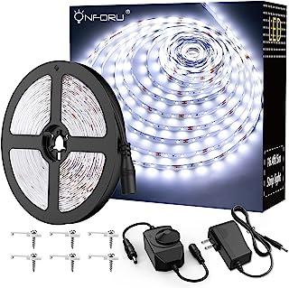 Onforu LED Vanity Mirror Lights Kit, 16.4ft / 5m 300 LEDs Strip Lights for Make up Table, 6000K Daylight White Under Cabin...