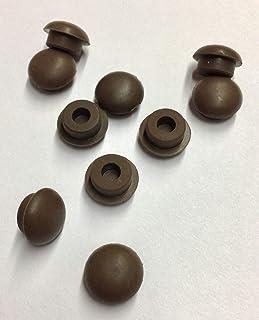 """Brown Rubber Button Piano Cabinet Bumper 7/16"""" Set o"""