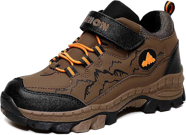 Narstin Boys Girls Hiking Shoes Kids Waterproof Outdoor Running Shoe Non- Slip Lightweight Walking Sneakers