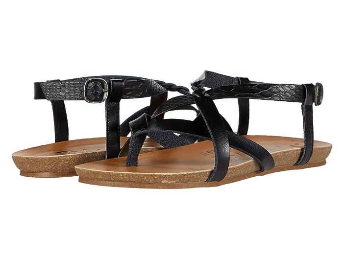 Blowfish  Granola-B (Black Snake Charmer PU/Dyecut PU) Womens Sandals