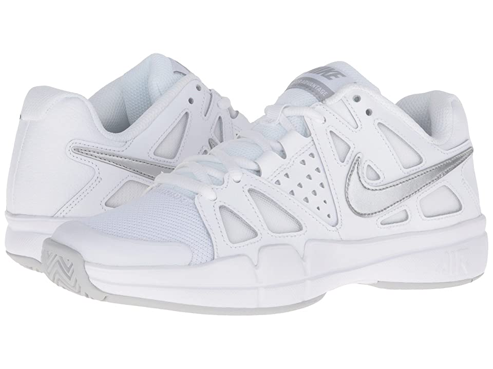 Nike Air Vapor Advantage (White/Medium Grey/Metallic Silver) Women