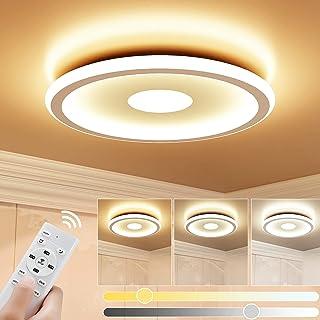 Plafonnier LED 24W GolWof Rond Lampe de Plafond 3000K-6000K Dimmable Luminaire Plafonnier Moderne Mince Luminaire Intérieu...