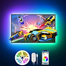 Govee LED TV Backlight 6.56ft RGB Strip Light,Non-Waterproof TV Bias Lighting Kit with Remote Controller for HDTV Desktop ...