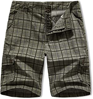 XIONG TAI Mens Outdoor Cargo Shorts Relaxed Loose Fit with Belt Multi-Pockets Camo Short Man
