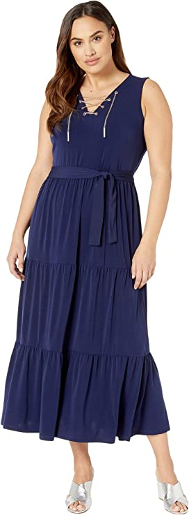 MICHAEL Michael Kors Plus Size Tahitian Reef Maxi Tank Dress ...