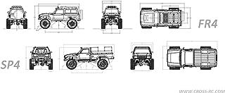 Cross RC - SP4C 1/10 Demon 4x4 Crawler Kit, w/ Full Hard Body Full Metal, & CNC Rims