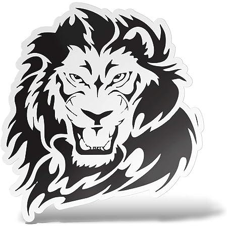 Erreinge Aufkleber Löwe Aufkleber Pvc Form Für Abziehbild Tapete Auto Moto Helm Camper Laptop 10 Cm Auto