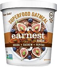 Earnest Eats Gluten-Free Superfood Oatmeal, Quinoa, Oats & Amaranth, Vegan, Healthy Snack, Mayan Blend, 2.35oz Cup, 12-Pack