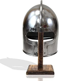 Medieval Flared Barbute Fighting Combat Helmet Decoration Barbuta 18GA Steel Adult Size Knight Armor Crusader Templar Helmets
