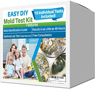 Evviva Sciences Mold Test Kit for Home - 10 Simple Mold Detection Tests - Optional Lab Analysis - Test HVAC System, Room Air, Home Surfaces for Molds/Spores - Includes Detailed Mold ID Guide