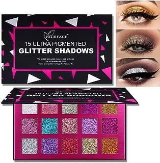 15 Color Glitter Sequin Eyeshadow Palette, High Pigment Face Body Chunky Glitter Metallic Shimmer Eye Shadow Pallet Waterproof Long Lasting Makeup Eyeshadow Powder (03)