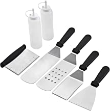 Wanbasion BBQ Griddle Accessories Set, Flat Top Griddle Accessories,BBQ Griddle Accessories Kit with Heavy Duty Scraper Spatula Turner and Bottles
