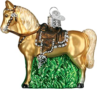 Old World Christmas Ornaments: Western Horse Glass Blown Ornaments for Christmas Tree
