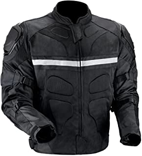 Viking Cycle Stealth Motorcycle Jacket for Men (2X-Large)